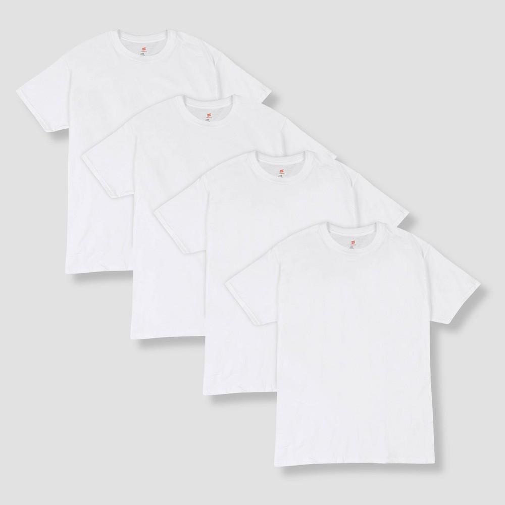 Hanes Men's 4pk Comfort Fit Crew Neck T-Shirt - White L