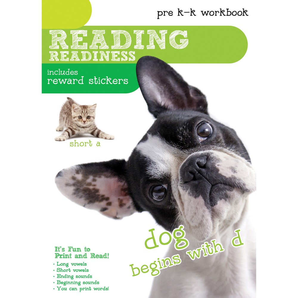 8pk Reading Readiness Workbooks with Stickers - Pre-K to Kindergarten - Bendon