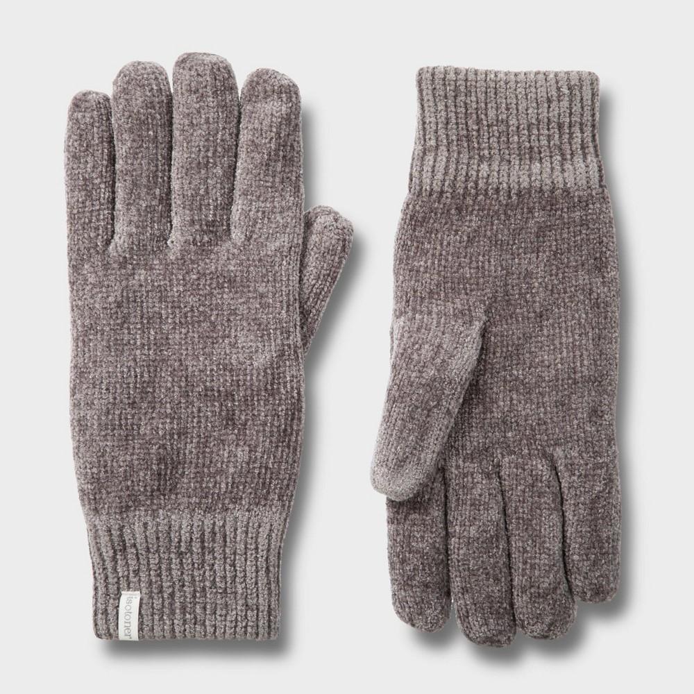 Isotoner Women's Chenille Glove - Gray One Size