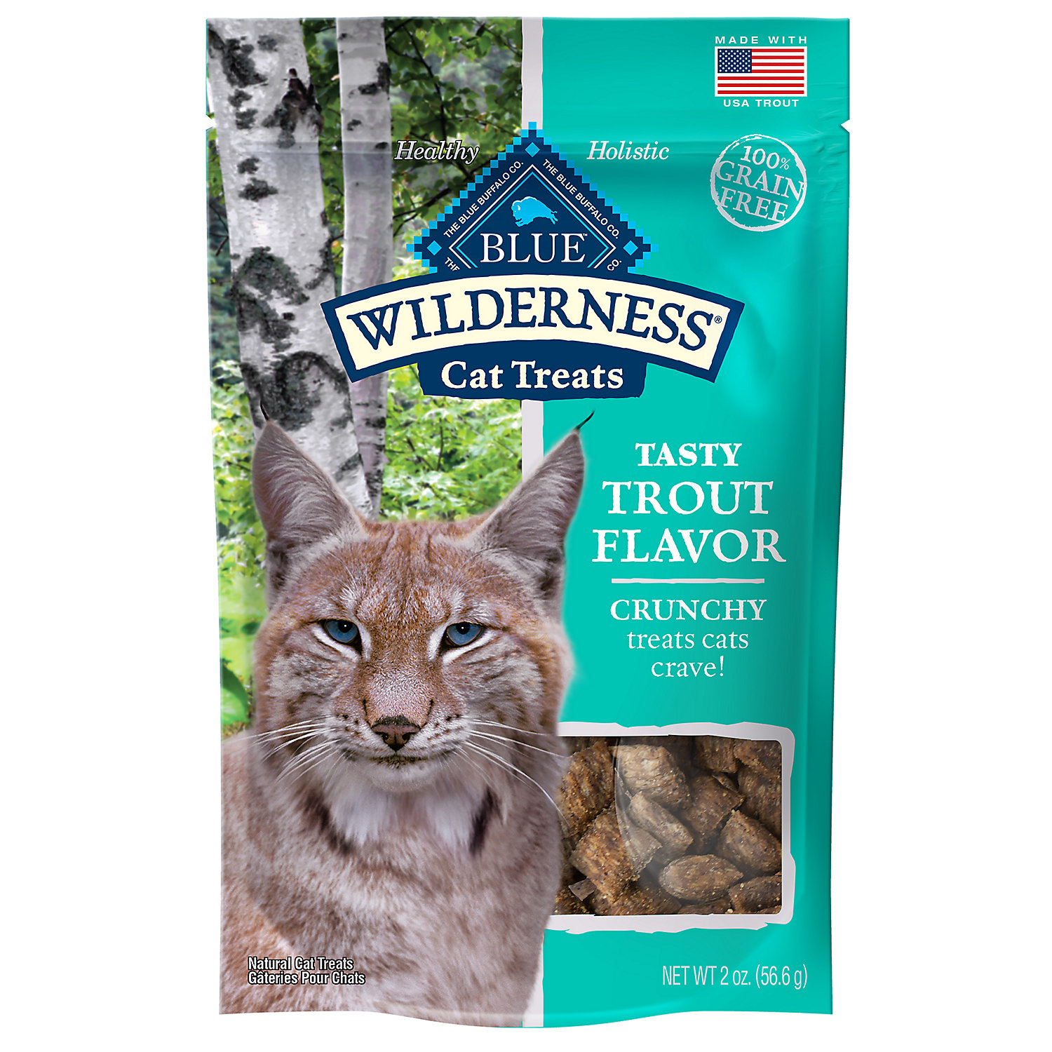 Blue Buffalo Wilderness Crunchy Trout Flavor Cat Treats, 2 oz