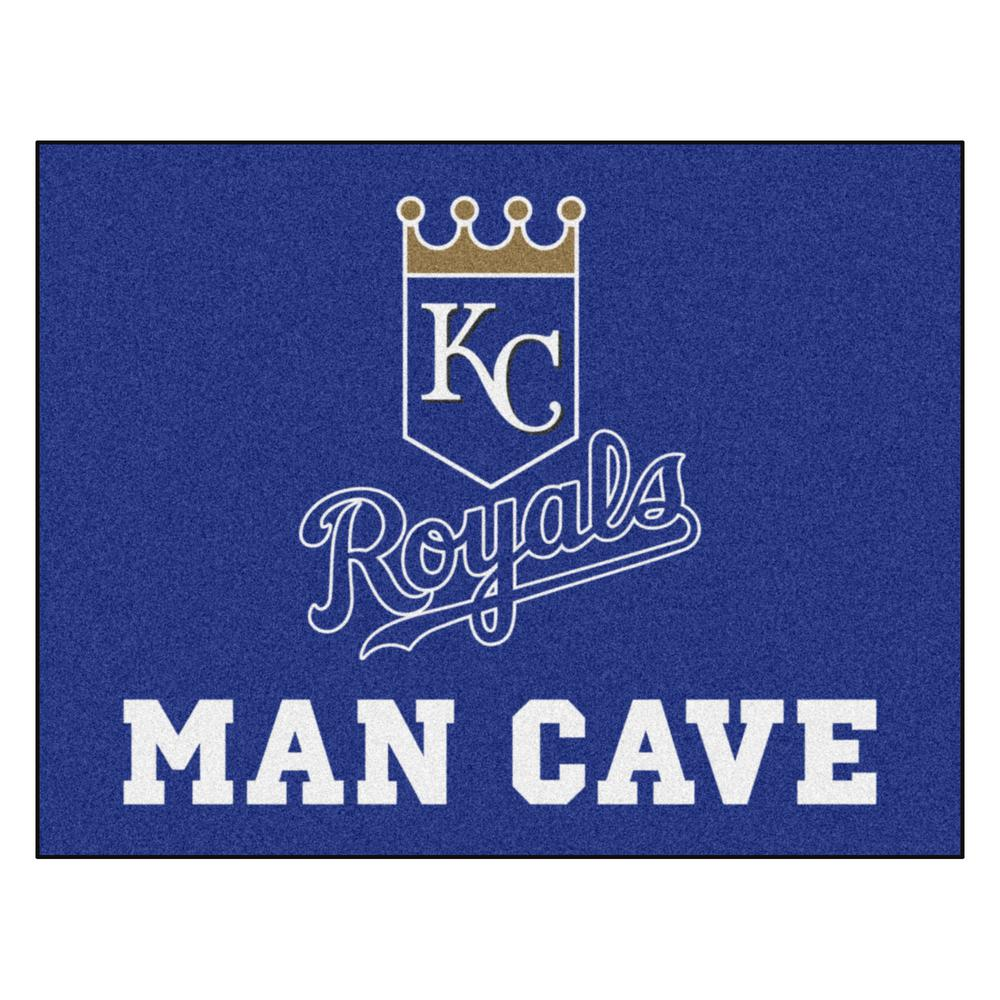 FANMATS MLB - Kansas City Royals Man Cave All-Star 33.75 in. x 42.5 in. Indoor Area Rug, Team Colors