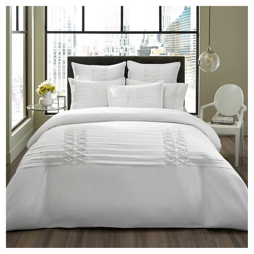 White Triple Diamond Comforter Set (King) - Eddie Bauer