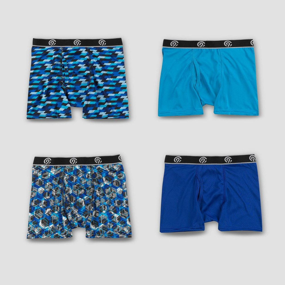 Boys' 4pk Lightweight Boxer Briefs - C9 Champion L, Multicolored
