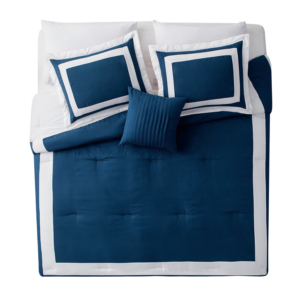 Blue Avondale Comforter Set (King) - Vcny
