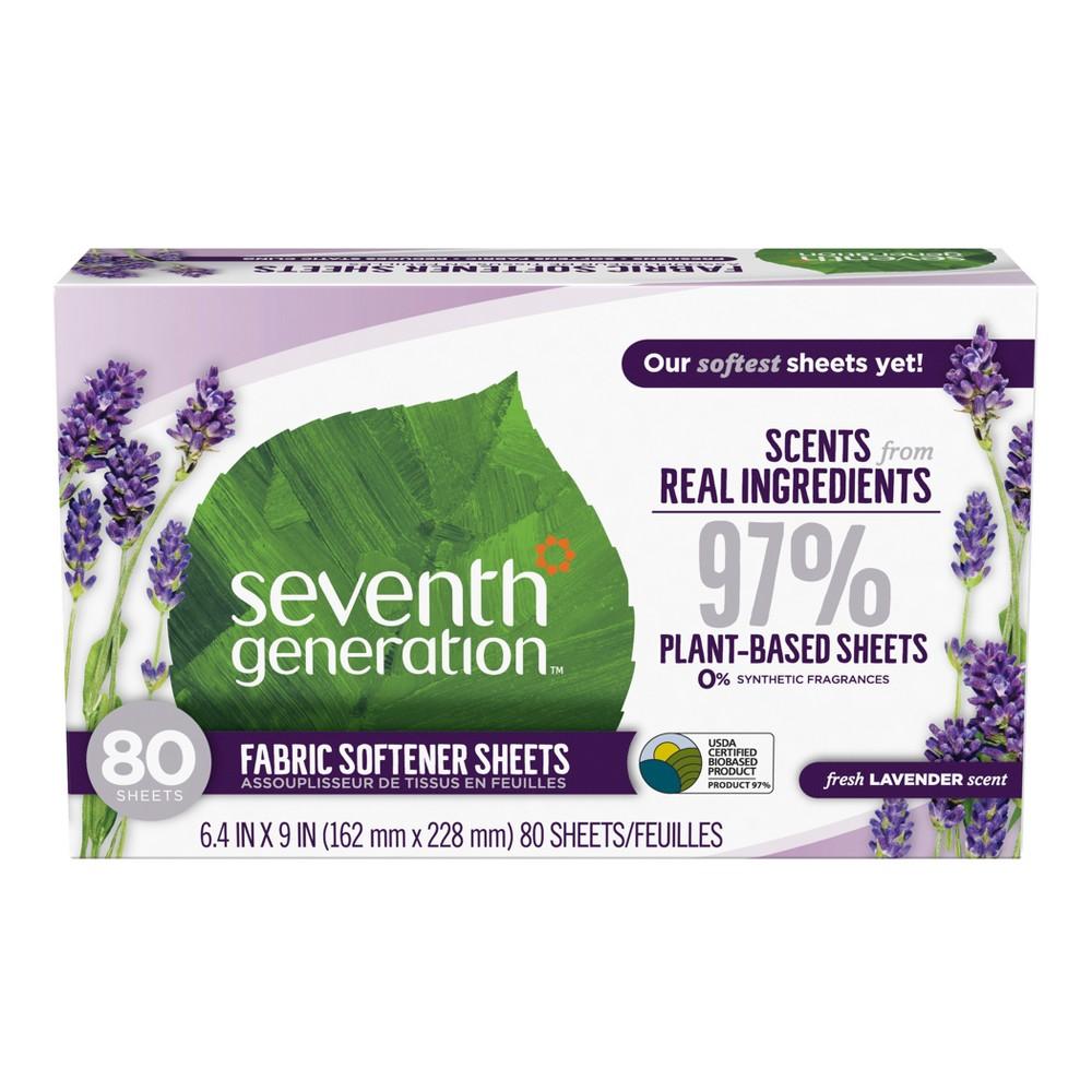 Seventh Generation Fabric Softener Sheets - 80ct