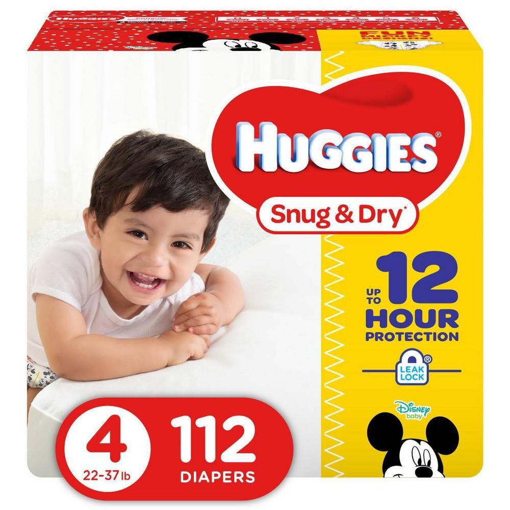 Huggies Snug & Dry Diapers Super Pack - Size 4 (112ct)