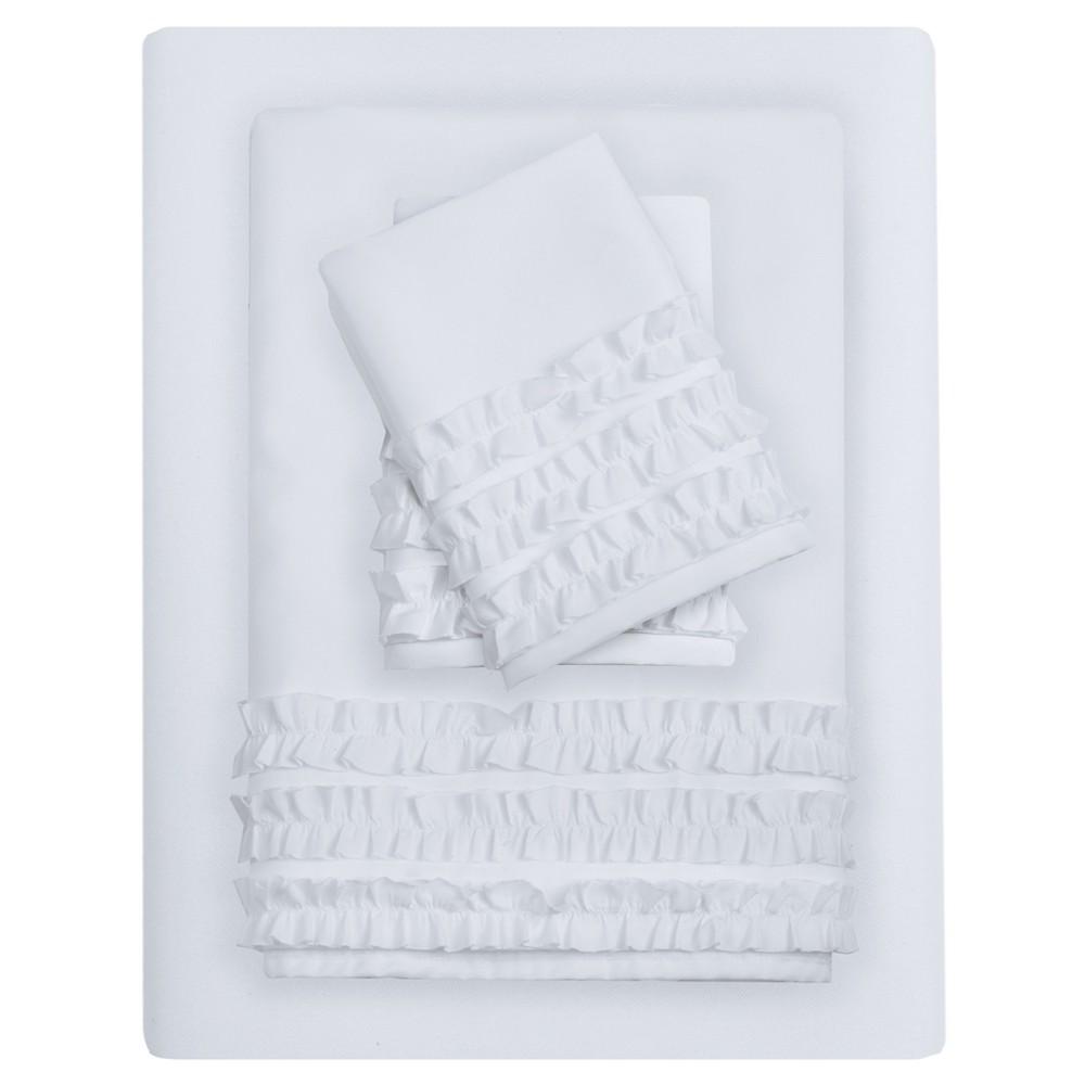 6pc Sheet Sets White Full