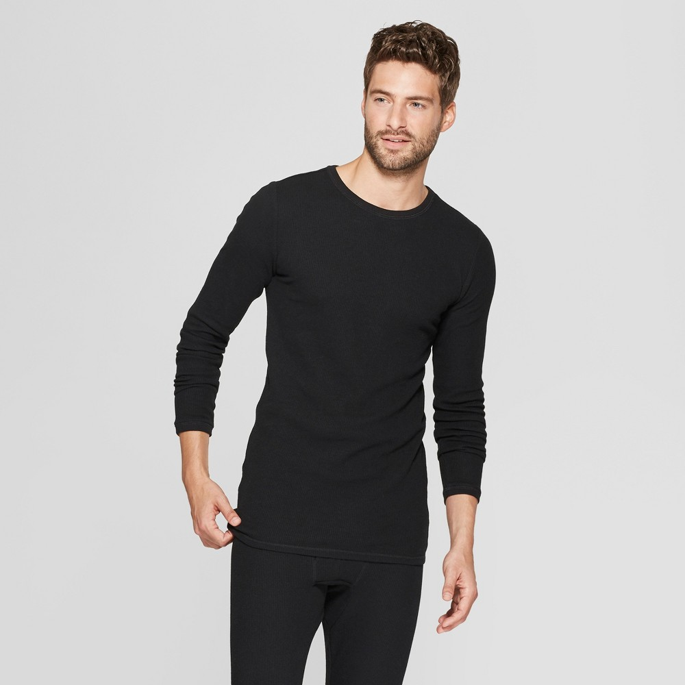 Men's Long Sleeve Thermal Undershirt - Goodfellow & Co Black L