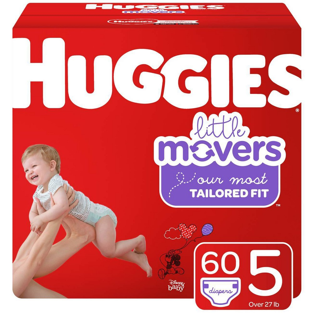 Huggies Little Movers Diapers - Size 5 (60ct), Size: Size 5 (60 Count)