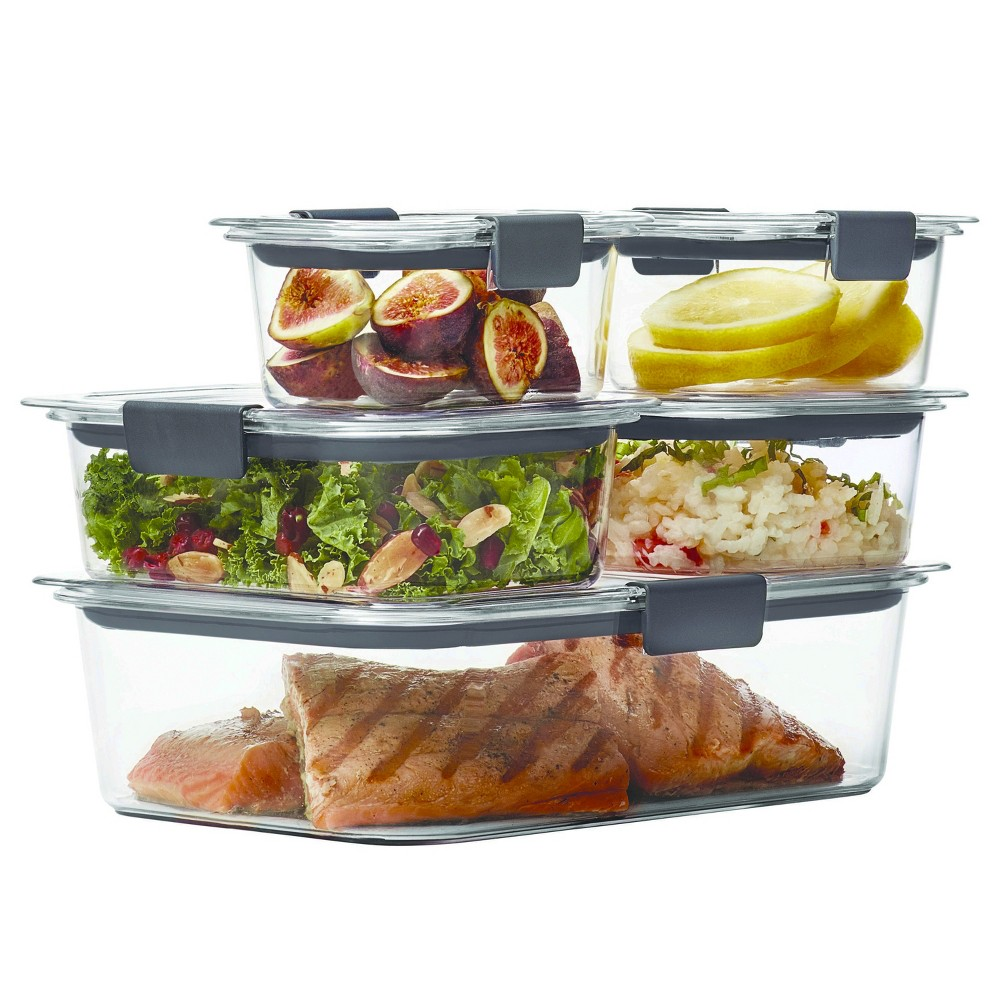 Rubbermaid 10pc Brilliance Food Storage Containers, Clear
