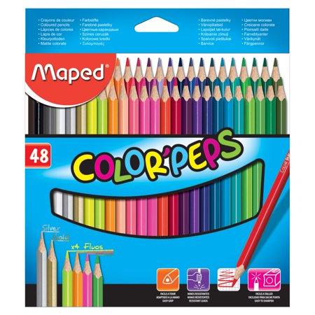 Maped Color'Peps Colored Pencil Set, 48-Pencils