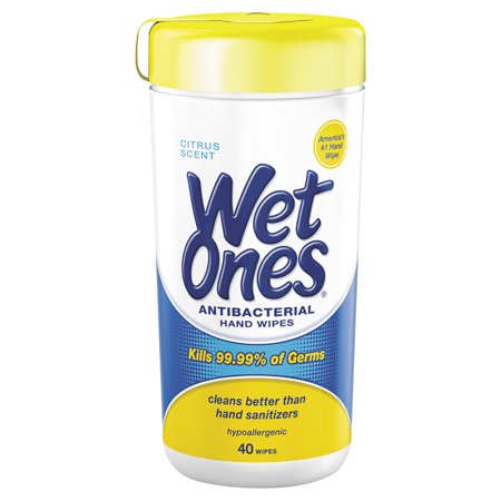 (Pack of 6) Wet Ones Hand Wipes Canister, Citrus Scent, 40 Ct