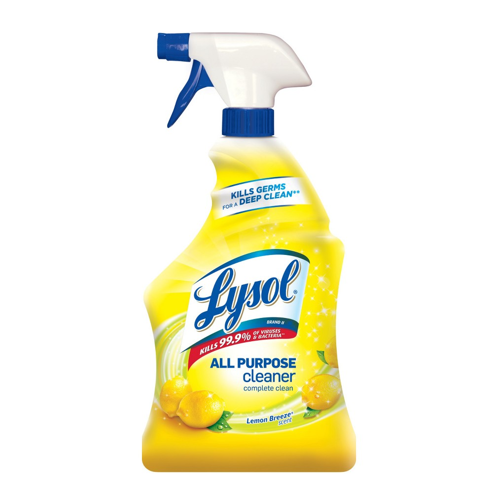 Lysol Lemon Breeze Scented All Purpose Cleaner & Disinfectant Spray - 32oz, Yellow