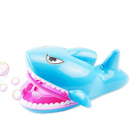 Automatic Electric Shark Bubble Machine Music Bubble Maker Kids Baby Pool Swimming Bath Toy