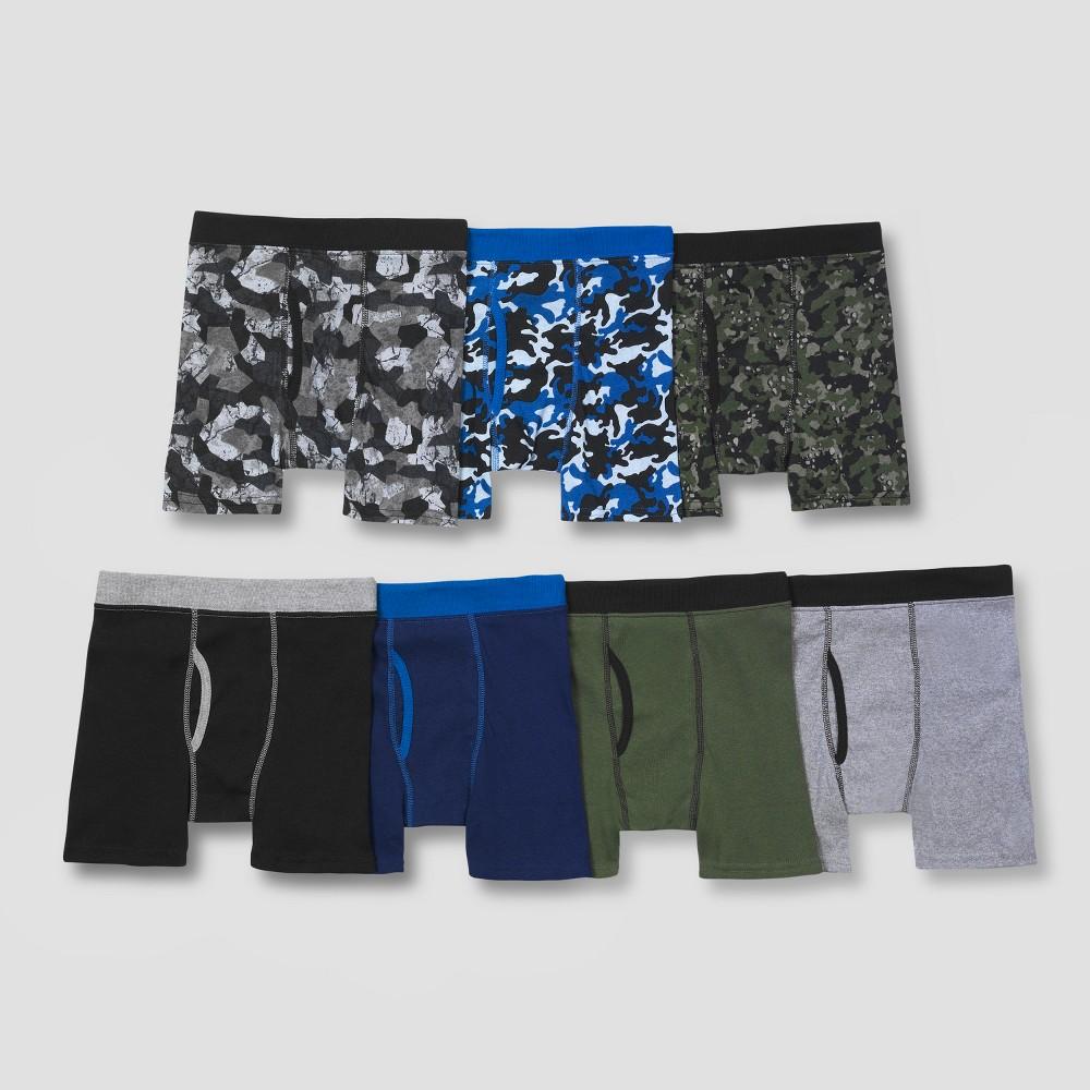 Hanes Boys' Boxer Briefs 6 + 1 Bonus Pack - Colors Vary M, MultiColored