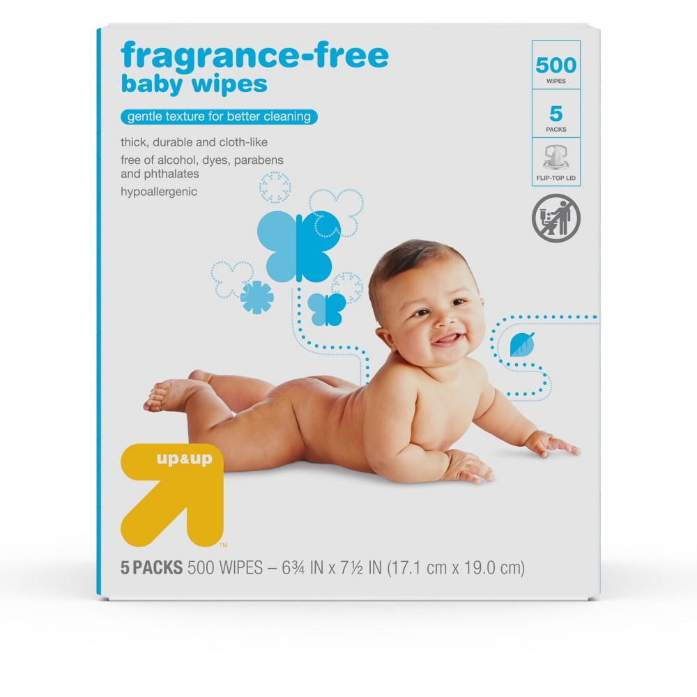 Baby Wipes - Unscented 500 ct - Up&Up