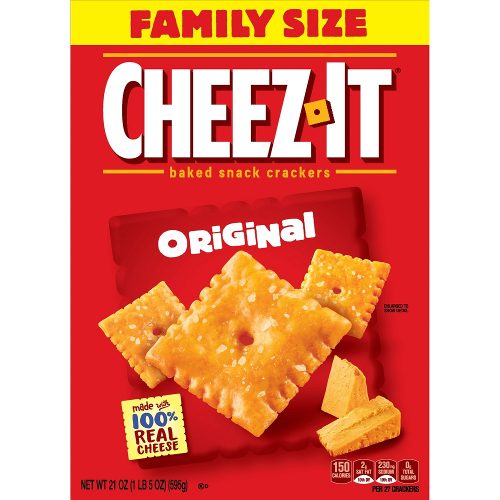Cheez-It Original Baked Snack Crackers - 21oz
