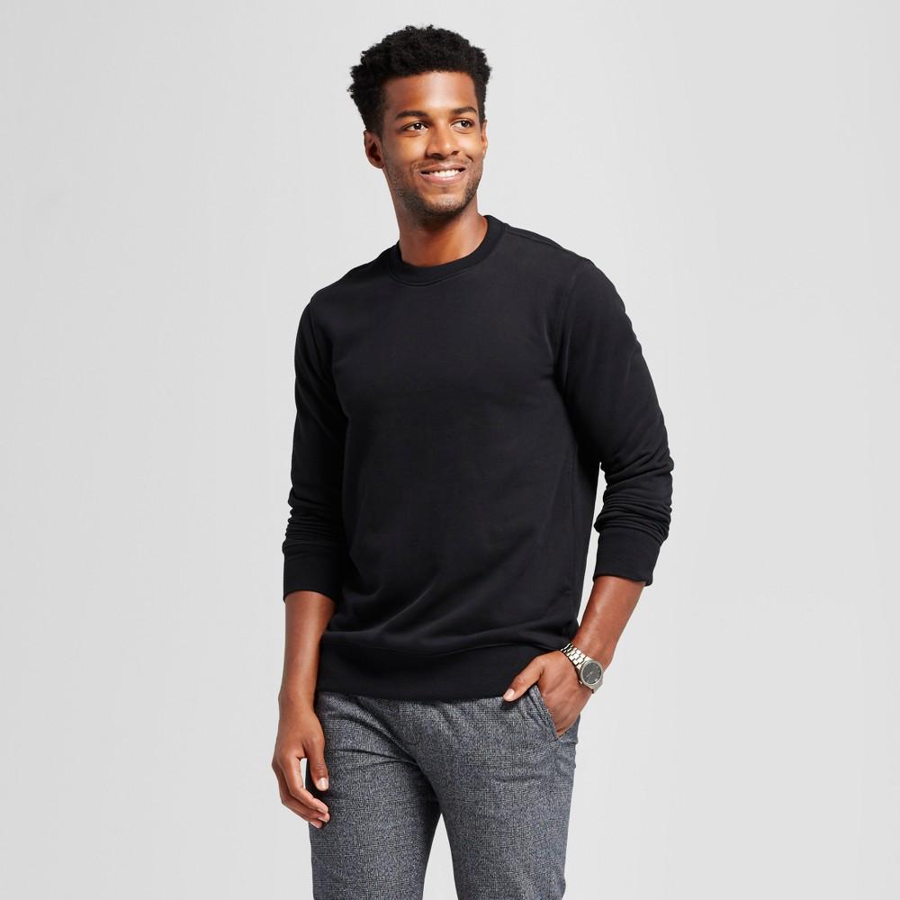 Men's Standard Fit Fleece Crew Neck Sweatshirt - Goodfellow & Co Black L
