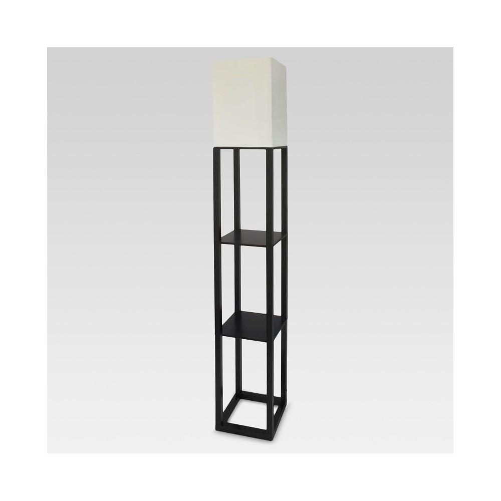 Shelf Floor Lamp Black Includes Energy Efficient Light Bulb - Threshold