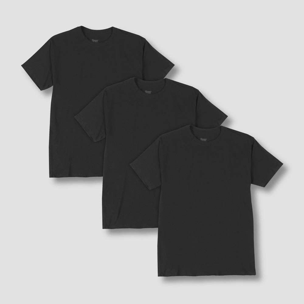 Hanes Premium Men's Stretch Crew T-Shirt 3pk - Black M