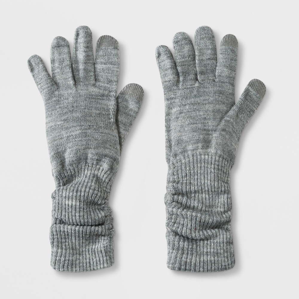 Women's Slouch Tech Touch Gloves - A New Day Gray