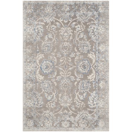 Safavieh Patina 4' X 6' Power Loomed Area Rug in Taupe and Blue