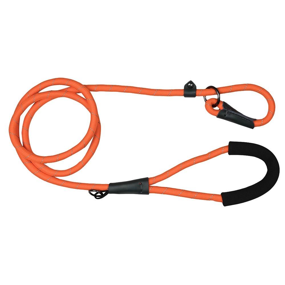 Bow & Arrow Reflective Comfort Slip Dog Leash - Orange