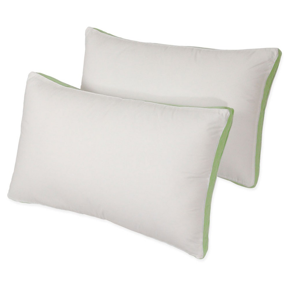 "Density Story Medium Firm Bed Pillow 2Pk (King 20""x36"") White - Iso-Pedic"