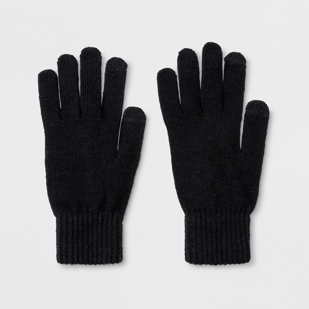 Men's Knit Touch Tech Glove Gloves - Goodfellow & Co Black One Size