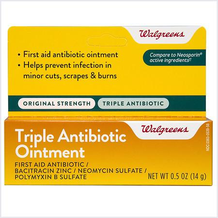 Walgreens Triple Antibiotic Ointment - 0.5 OZ