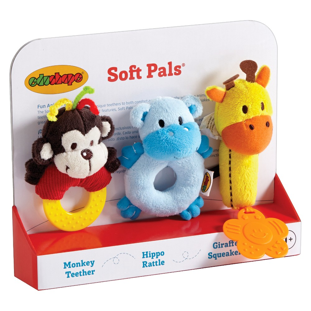 Edushape Soft Pals, Baby and Toddler Learning Toys
