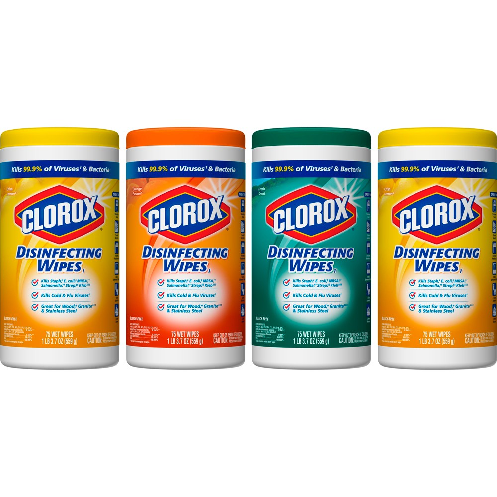 Clorox Disinfecting Wipes Value Pack Scented 300 ct Total