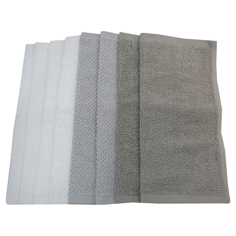 Washcloth Set Washcloth Set White/Gray - Pillowfort