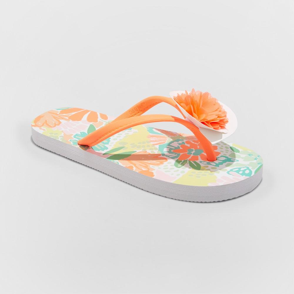 Girls' Haley Flip Flop Sandals - Cat & Jack Coral (Pink) S
