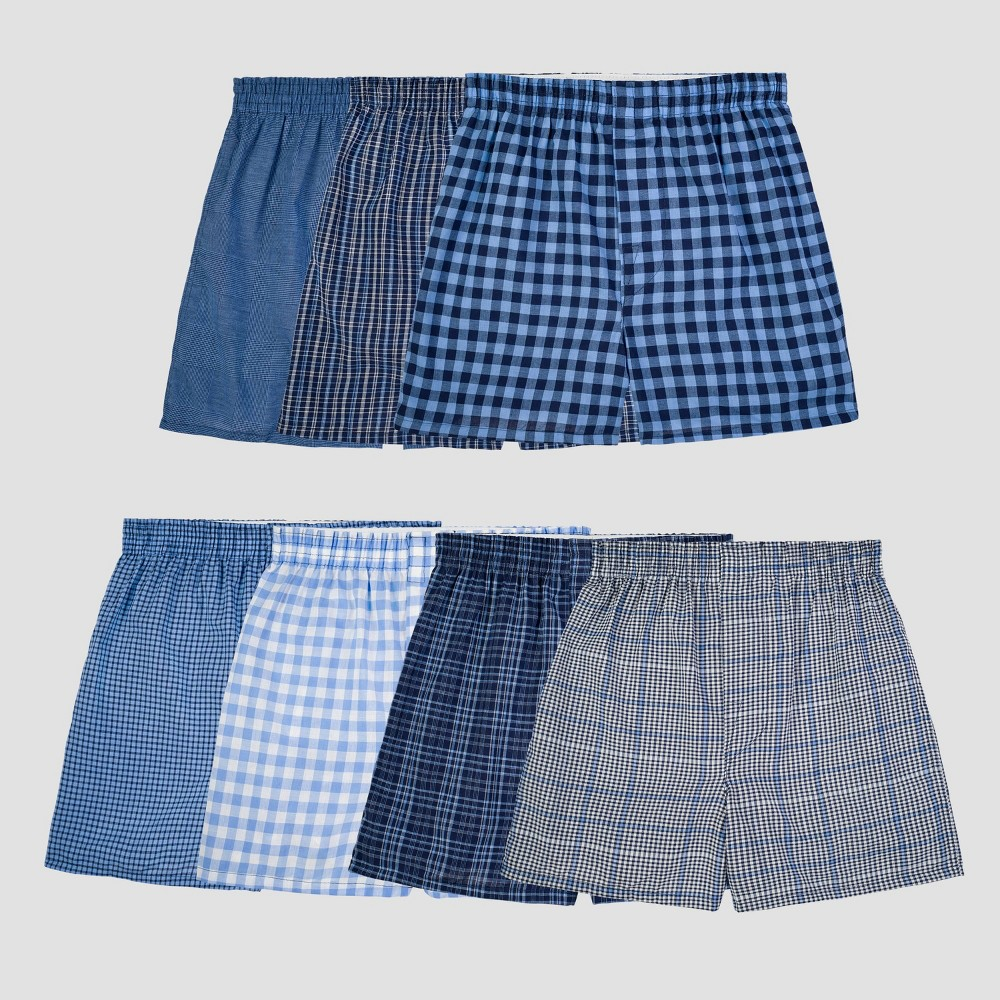 Fruit of the Loom Boy' 7pk Plaid Boxer Brief - Color Vary