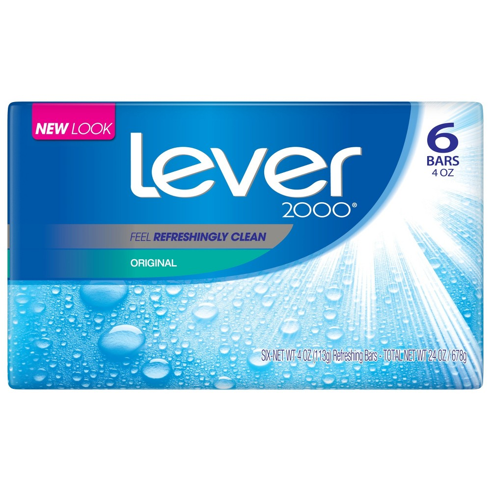 Lever 2000 Original Bar Soap - 4oz/6pk