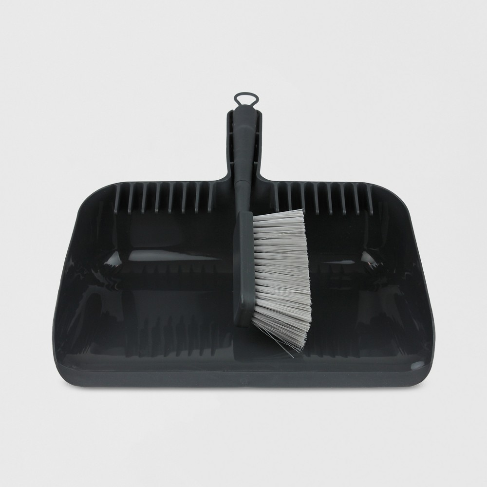 Hand Broom and Dust Pan Set - Made By Design, Flat Grey