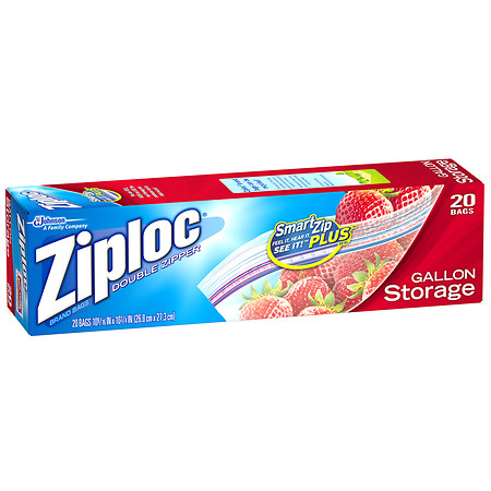 Ziploc Storage Bags Gallon - 20 ea