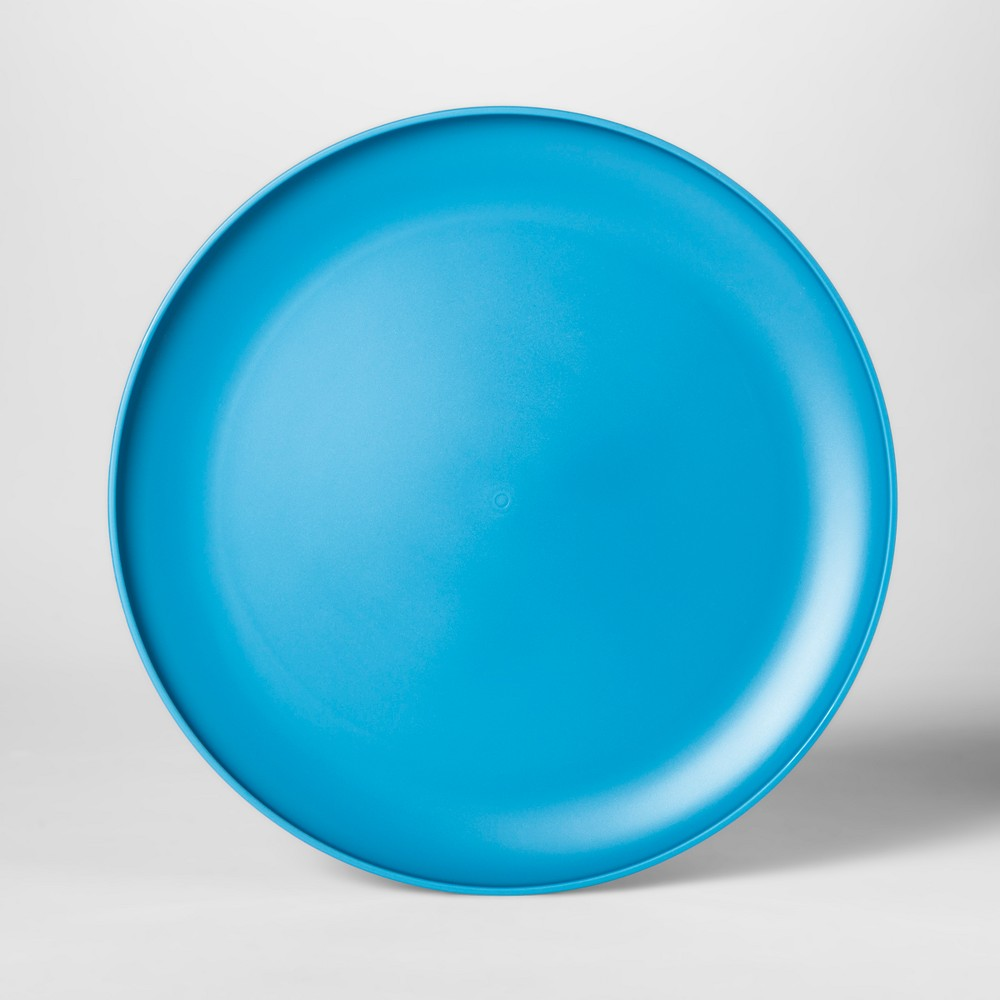 10.5 Plastic Dinner Plate Blue - Room Essentials, Corrib River Blue