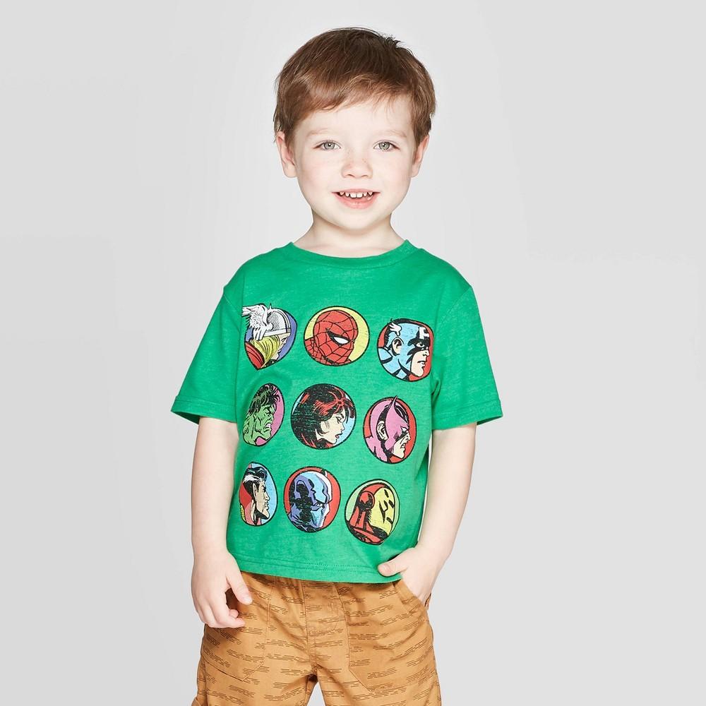 Toddler Boys' T-Shirt Avengers Green Heather 3T