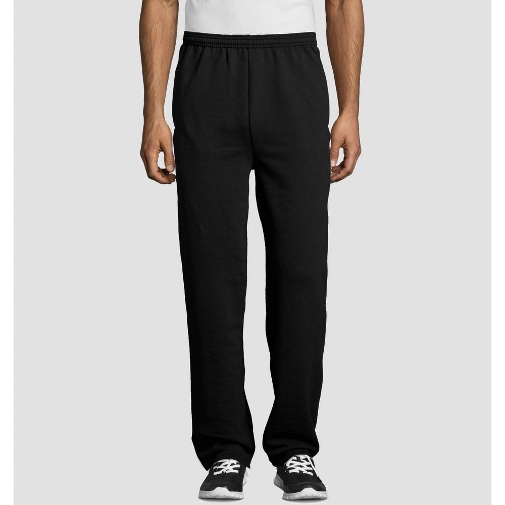 Hanes Men's EcoSmart Fleece Sweatpants - Black XL