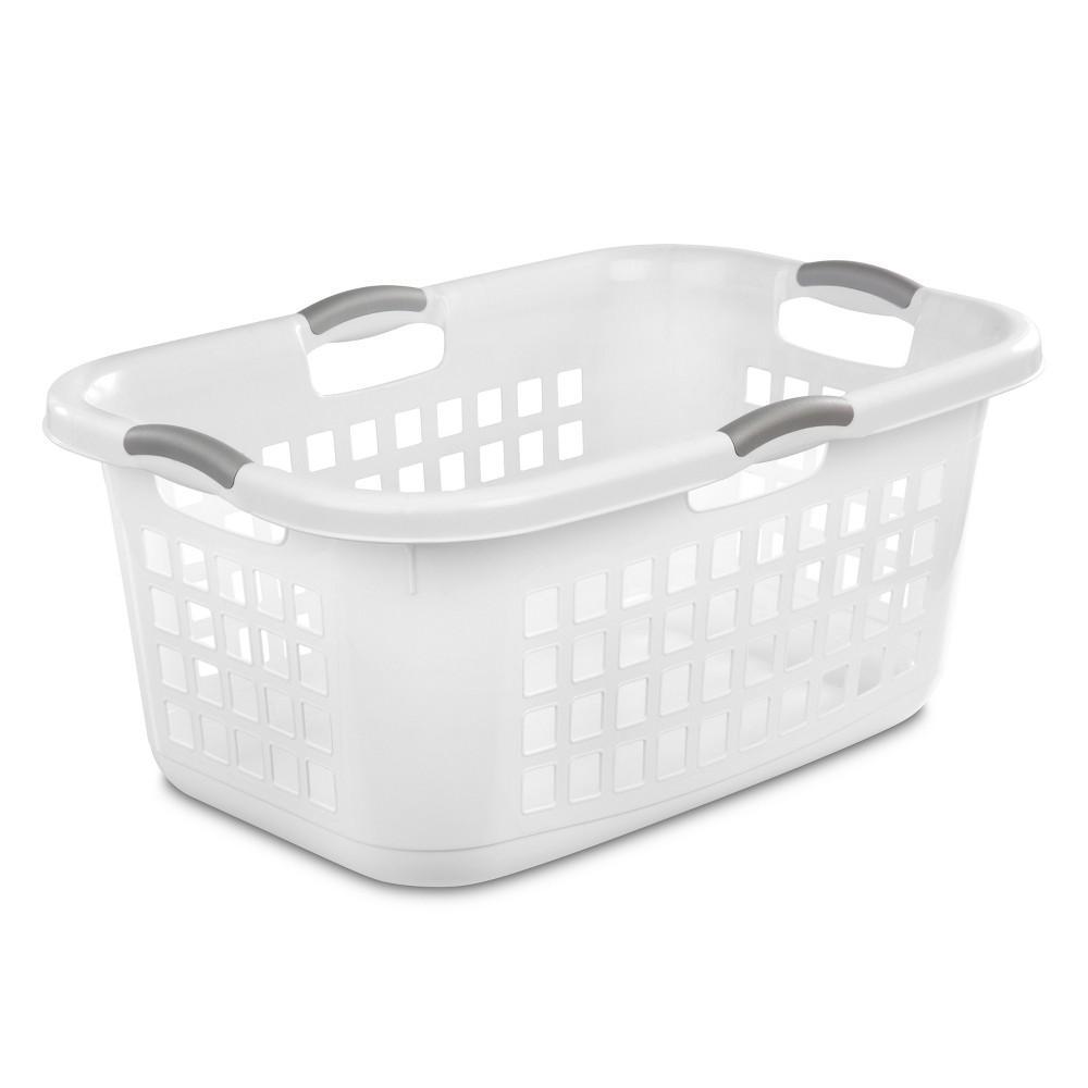 Sterilite 2 Bushel Capacity Single Laundry Basket – White