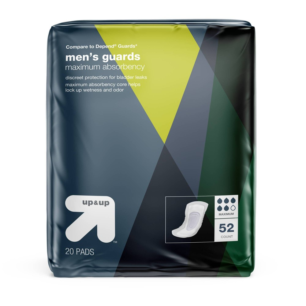Men's Guards for Adult Incontinence Care Maximum Absorbency 52ct - Up&Up, Clear