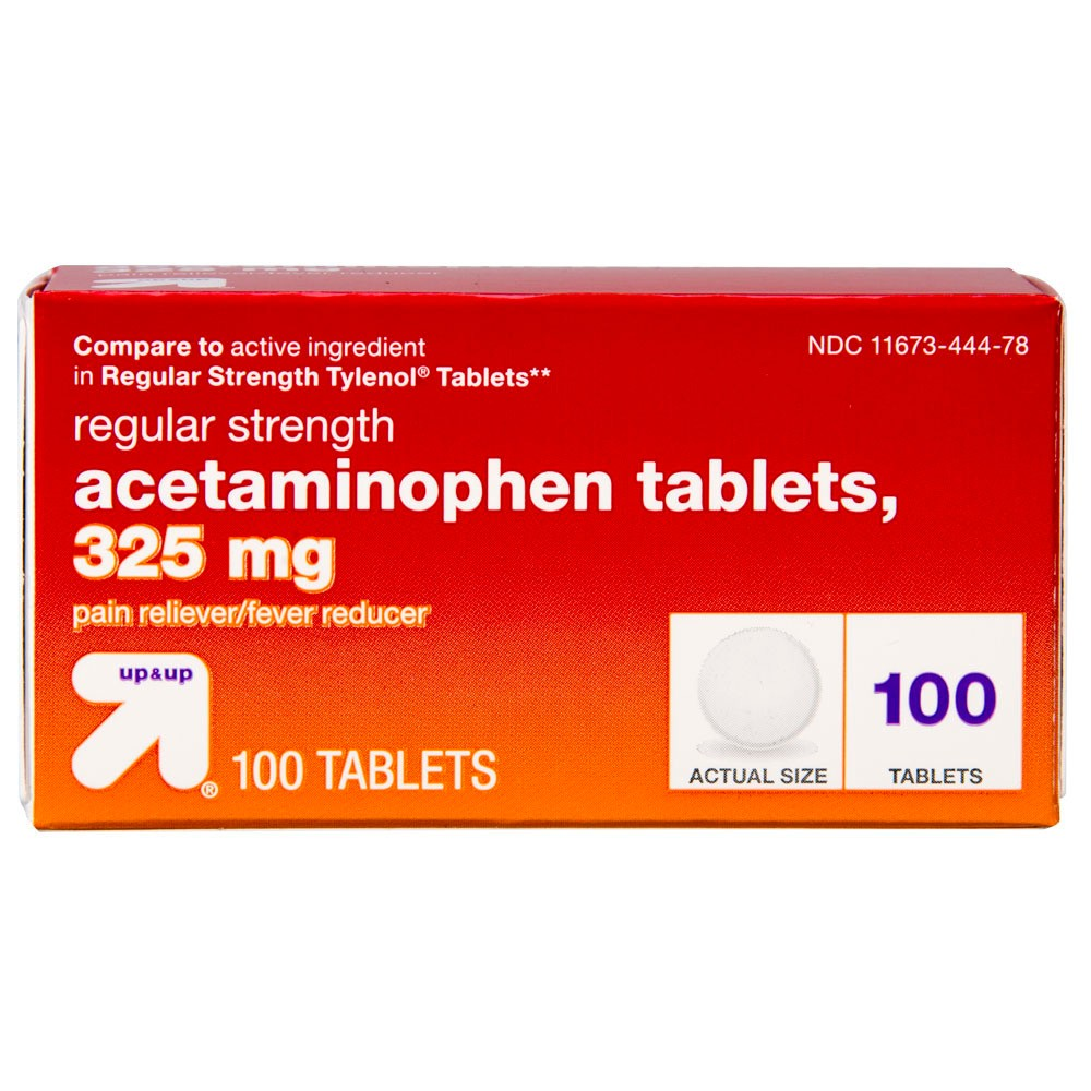 Acetaminophen Regular Strength Pain Reliever & Fever Reducer Tablets - (Compare to Regular Strength Tylenol Tablets) - 100ct - Up&Up