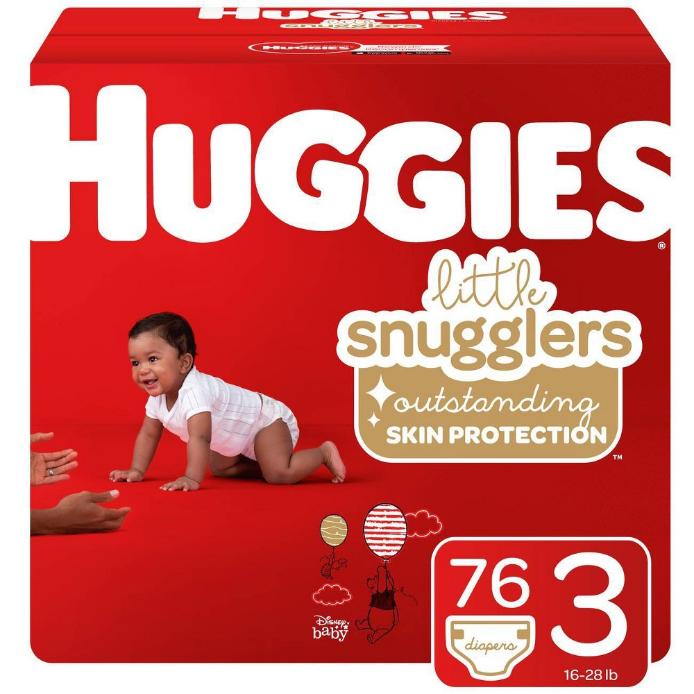 Huggies Little Snugglers Diapers - Size 3 (76ct), Size: Size 3 (76 Count)