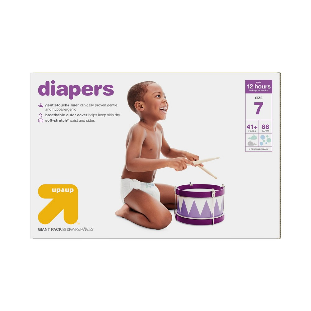 Diapers Giant Pack Size 7 (88ct) - Up&Up, White