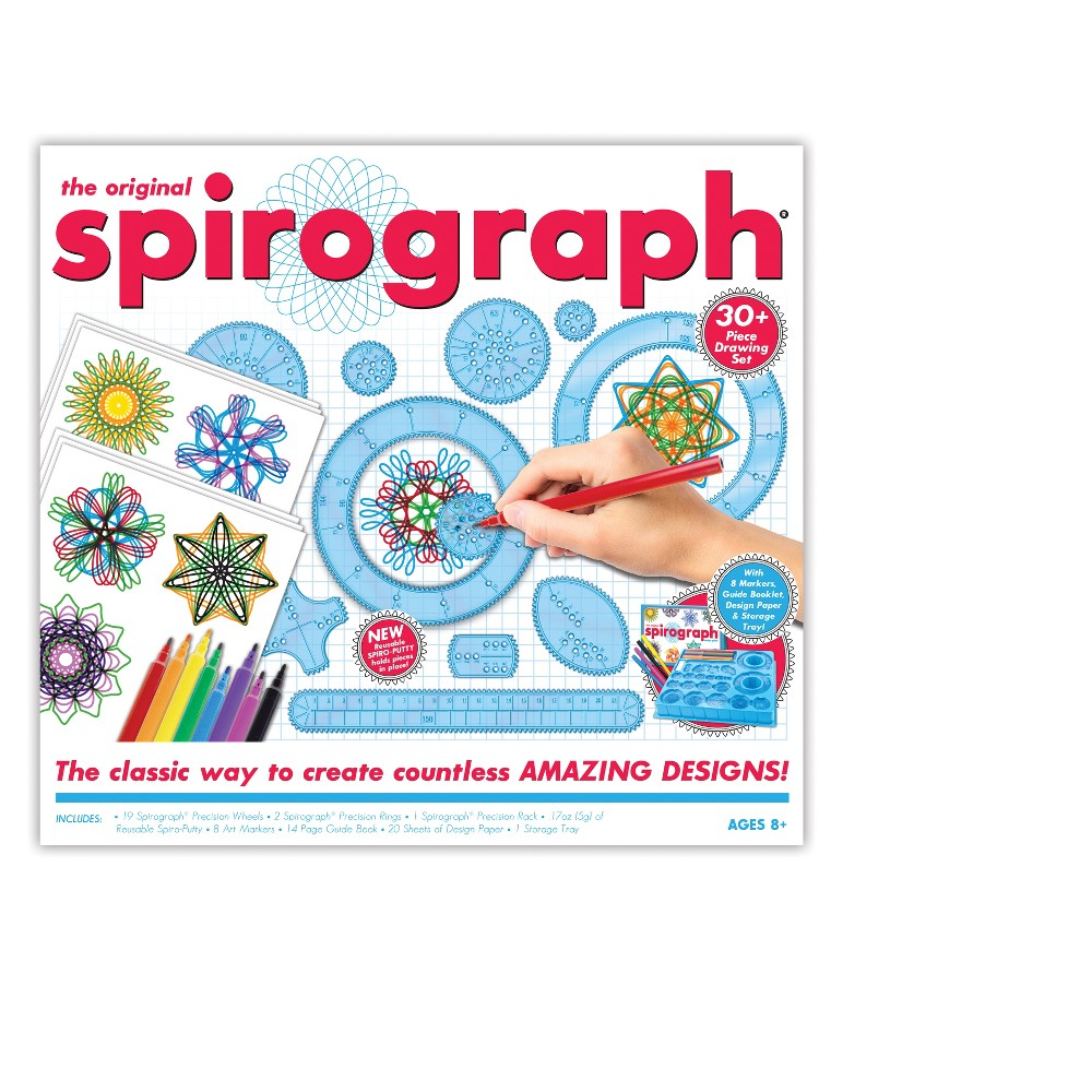 Original Spirograph Kit with Markers, Multi-Colored