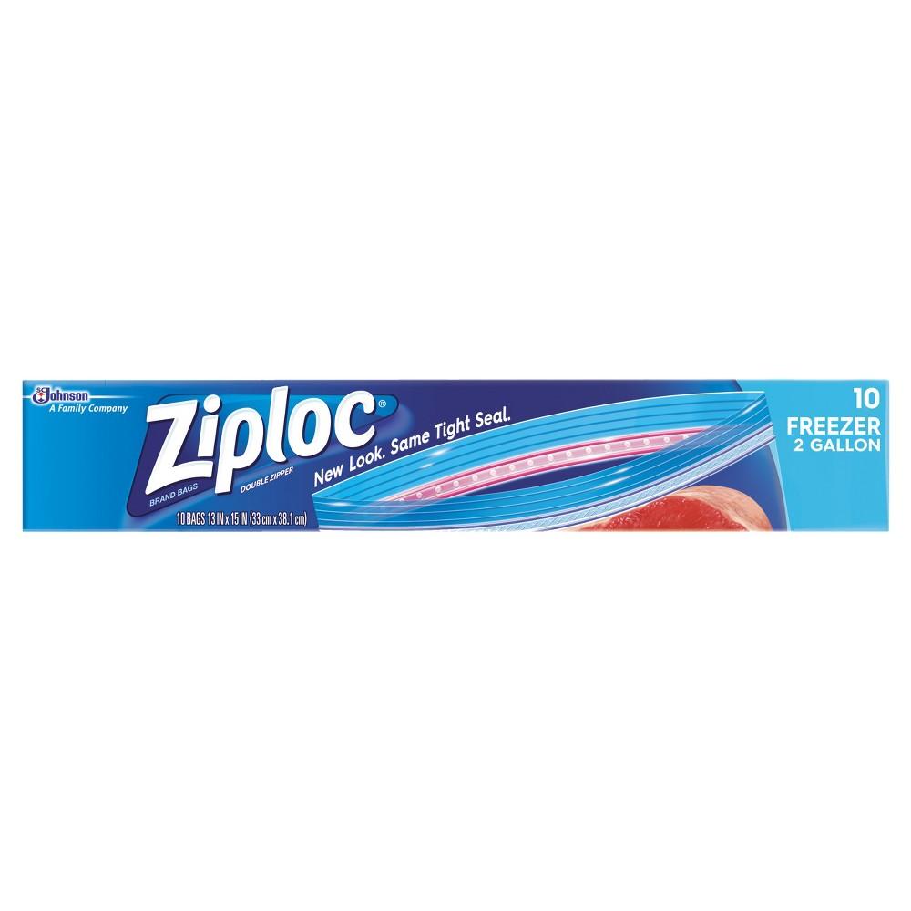 Ziploc 2-Gallon Freezer Bags - 10ct, Clear