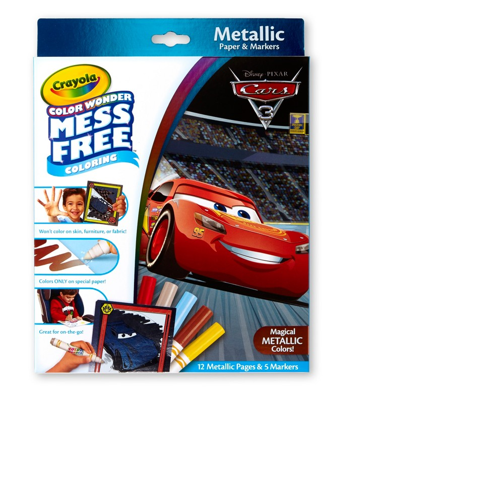 Crayola Color Wonder Metallic Coloring Kit - Cars 3