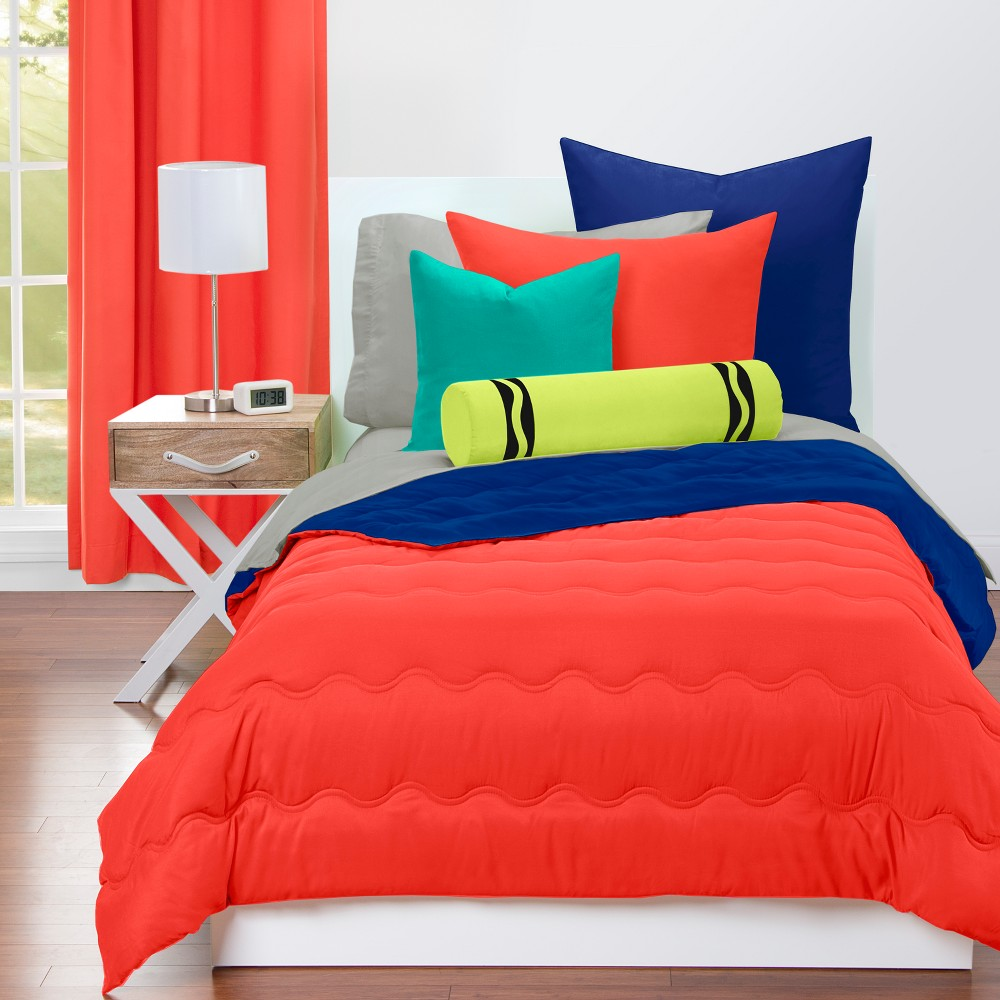 Crayola Sunset Red Comforter Sets (Full/Queen), Blue Red